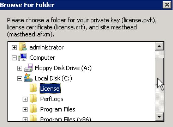5 - License Folder