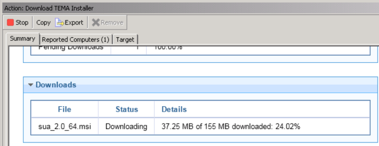 4 - SUA Download Progress