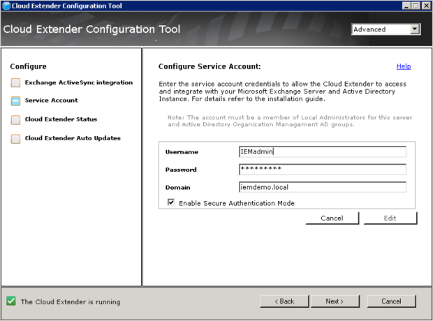 4 - Configure Services Account