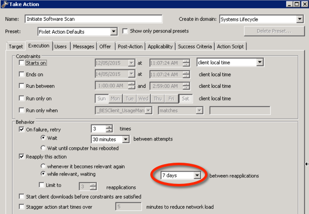 software scan - default