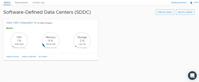 5 - SDDC Created