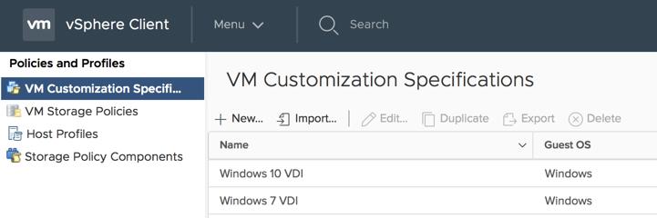 vm customisation