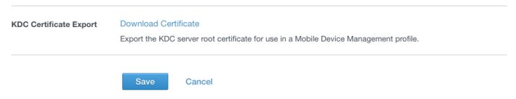 kdc-certificate