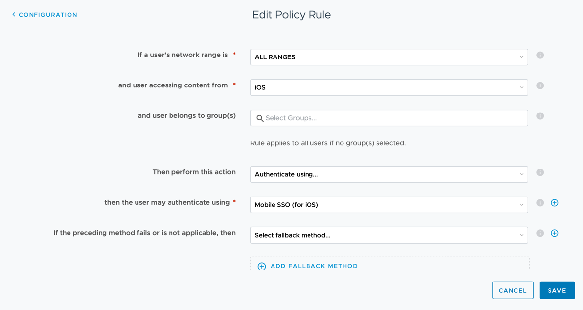 iOS - Policy